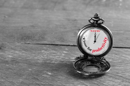 Foto de Now is the time for productivity - Imagen libre de derechos