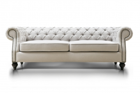 Photo pour white Luxurious sofa isolated on white background, front view - image libre de droit