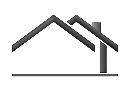 Photo pour The house roof as a logo - Illustration  - image libre de droit