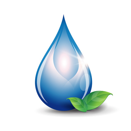 Illustration for Water drop vector - Royalty Free Image