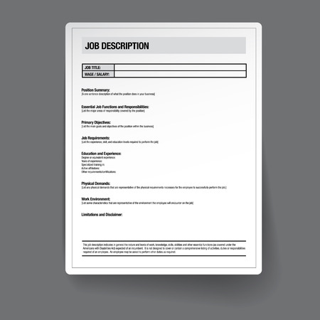 Illustration pour Job description template vector - image libre de droit