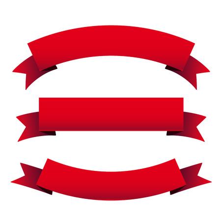 Ilustración de Red ribbon set - Imagen libre de derechos