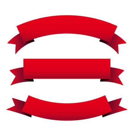 Illustration for Red ribbon set - Royalty Free Image