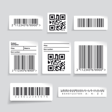Illustration for Barcode label set vector - Royalty Free Image