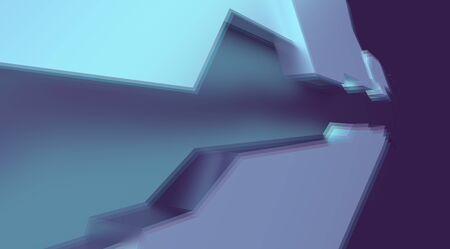 Foto de ski fi background with aberration effect. 3d rendering - Imagen libre de derechos