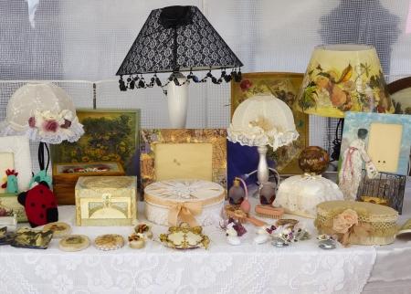 Foto de Street market in Italy, antiques and vintage - Imagen libre de derechos