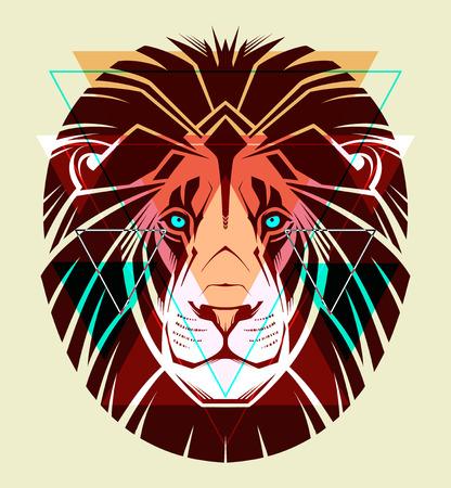 Illustration for Lion  Fashion illustration  - Royalty Free Image