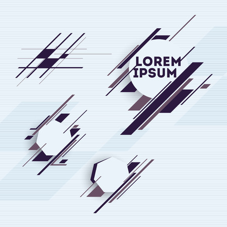 Illustration pour Design elements with abstract geometric forms  - image libre de droit