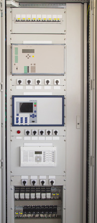 Control panel in modern electrical substation
