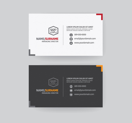 Illustration pour Modren business card template. - image libre de droit