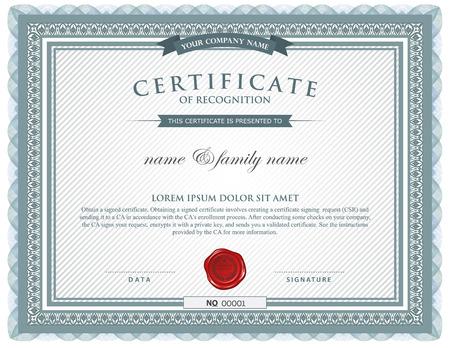 Ilustración de certificate template. - Imagen libre de derechos