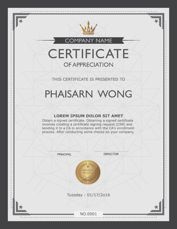 Illustration pour certificate template and element. - image libre de droit