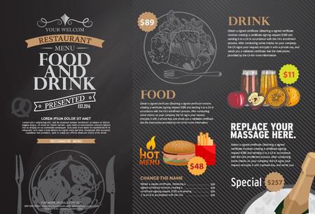 Illustration pour Restaurant menu design. - image libre de droit