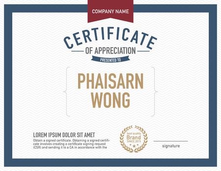Illustration pour Modern certificate template. - image libre de droit