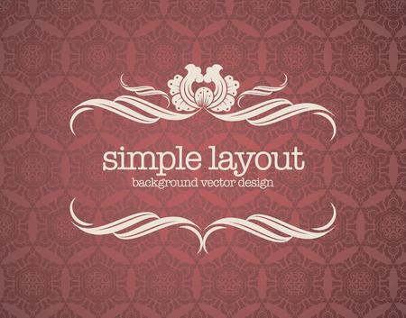Illustration pour Luxury template flourishes calligraphic elegant ornament lines. - image libre de droit