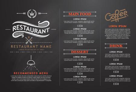 Illustration pour vintage and art restaurant menu design. - image libre de droit