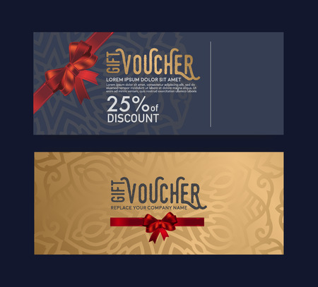 Illustration for The gift card is elegant, stylish and unique. - Royalty Free Image