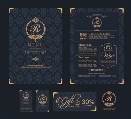 Illustration for vector restaurant menu template. - Royalty Free Image