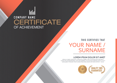 Illustration pour certificate template. modern,luxurious, unique - image libre de droit