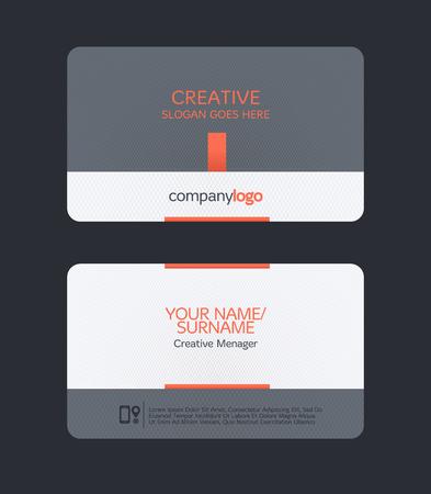 modern clean business card template. Flat design