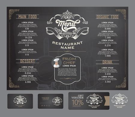 Illustration pour Vector restaurant menu template. - image libre de droit