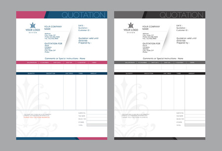 Illustration pour Vector quotation design template. - image libre de droit