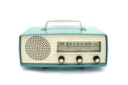 Photo for grungy retro radio on  isolated white background - Royalty Free Image