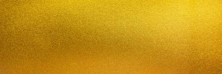 Foto de Metal texture background in gold.Panorama gold texture - Imagen libre de derechos