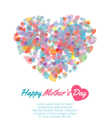 Illustration pour Happy mother day background with heart, Card of Happy Mothers Day. happy mothers day card vector illustration - image libre de droit