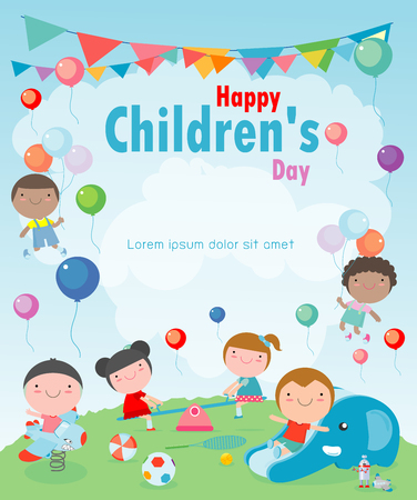 Illustration for Happy children's day background, vector illustration - Royalty Free Image