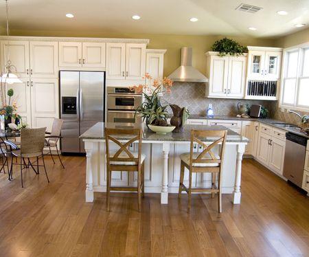 Large beautiful modern kitchen