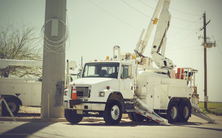 Photo for Restoring power after storm - Royalty Free Image