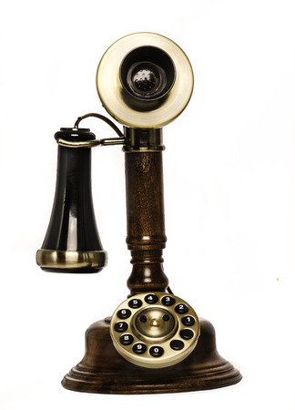 Photo pour Retro vintage old telephone phone - image libre de droit