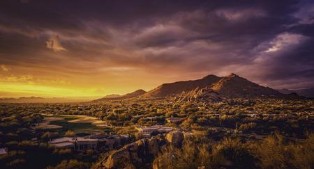 Foto de Scottsdale,Arizona desert landscape - Imagen libre de derechos