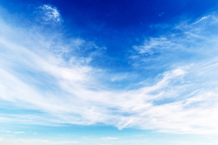 Photo for Fantastic soft white clouds against blue sky - Royalty Free Image