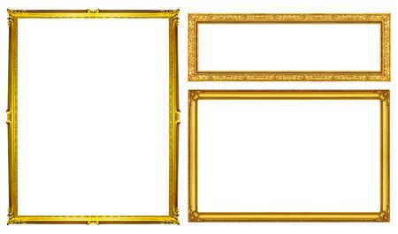 Foto de collection golden frame isolated  - Imagen libre de derechos