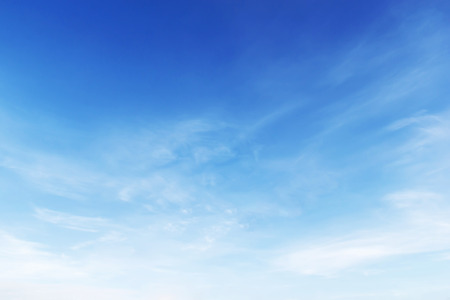 Photo pour Fantastic soft white clouds against blue sky background. - image libre de droit
