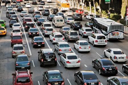Photo pour Los Angeles traffic - image libre de droit