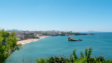 Photo pour a view of Biarritz city by the Atlantic ocean, France - image libre de droit