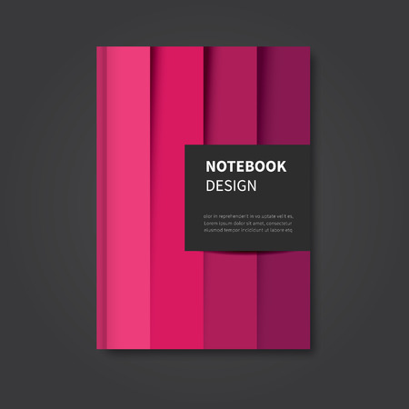 Ilustración de modern abstract notebook, brochure, book design cover - Imagen libre de derechos