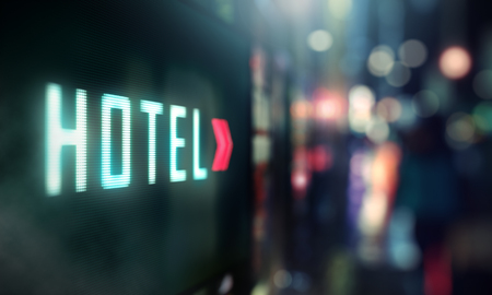 Photo for LED Display - Hotel signage - Royalty Free Image