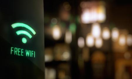 Foto de LED Display - Free wifi signage - Imagen libre de derechos