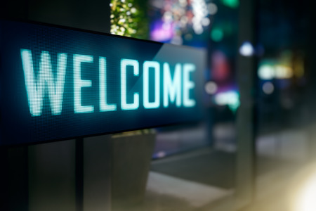 Foto per LED Display - Welcome signage - Immagine Royalty Free