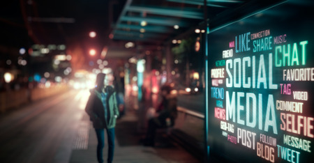 Photo for LED Display - Social Media signage - Royalty Free Image