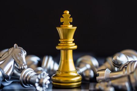 Foto für Strategy chess battle Intelligence challenge game on chessboard. Success the strategy concept. Chess business leader and success idea. Chess strategy game business competition success play. - Lizenzfreies Bild