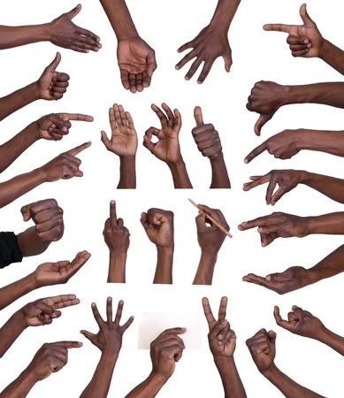 Foto de Hand gestures collection isolated on white background  - Imagen libre de derechos
