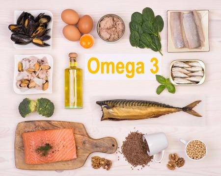 Photo pour Food rich in omega 3 fatty acid - image libre de droit