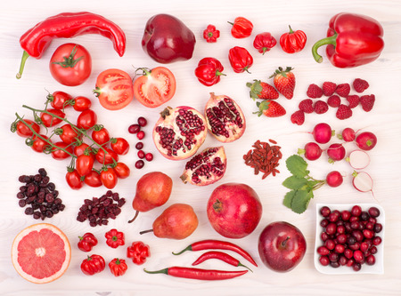 Photo for Red fruit and vegetables - Royalty Free Image