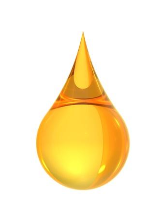 Foto de oil drop isolate on white back ground - Imagen libre de derechos