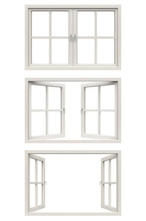 Photo pour white window frame - image libre de droit
